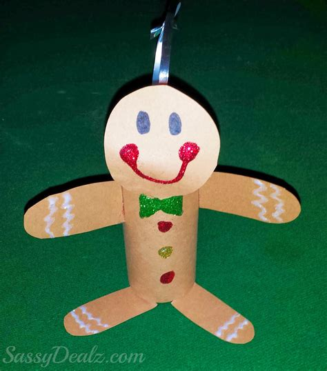 gingerbread man toilet paper roll craft for kids cute