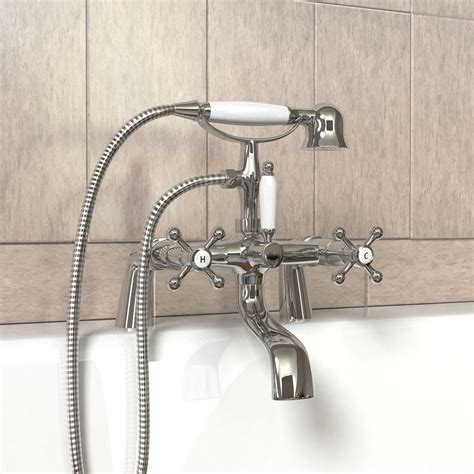 Bathroom Taps With Shower Attachment Modern Chrome Brass Monobloc Sink Bathroom Filler Bath Mixer Tap Handheld Shower Ebay