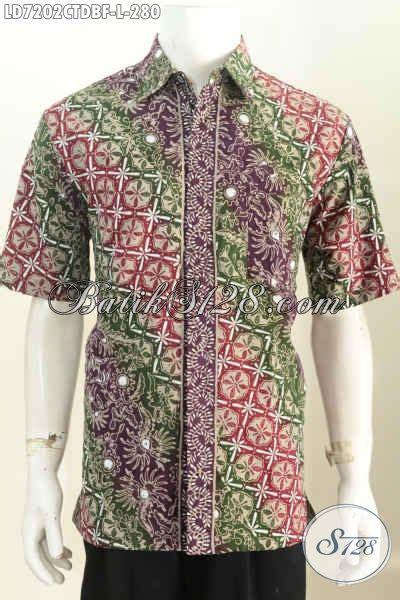 Hem Batik Dolbi baju batik motif parang lengan pendek hem batik bahan kain doby furing untuk kerja dan