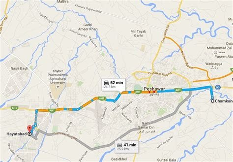 map route peshawar metro route map proposed