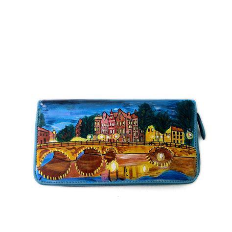 shining porta portafoglio dipinto a mano amsterdam shining