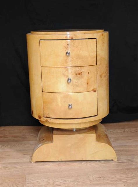 deco bedside chest drawers side table nightstand