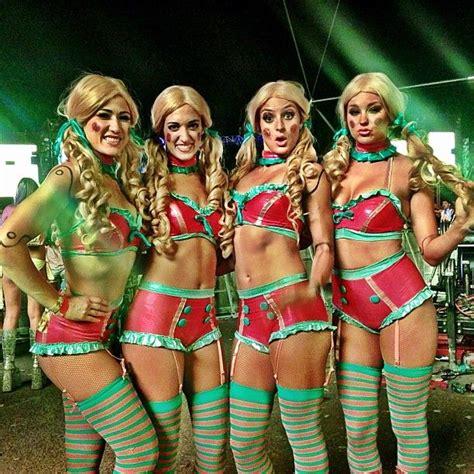 hot chick on sesame street dolls at edc las vegas 2013 girls of edc rave pictures
