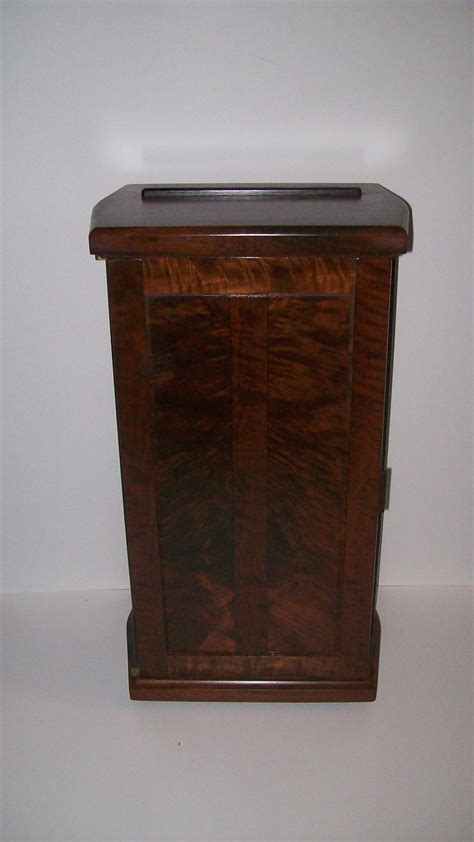 walnut standing jewelry box from our royal collection