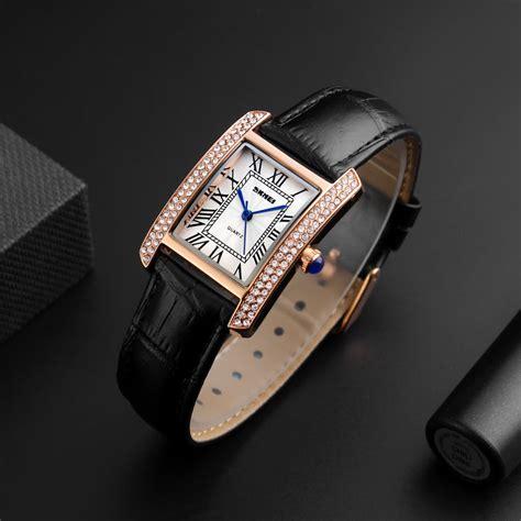 skmei 3atm water resistant fashion casual quartz watches genuine leather wristwatch