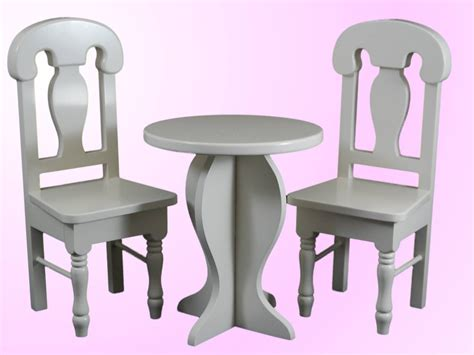 american doll chair that attaches to table cafe table chair set for 18 inch american 168 dolls