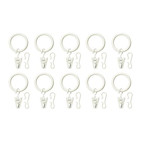 Hanging Curtain Rails by Syrlig Curtain Ring With Clip And Hook White Ikea
