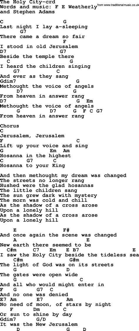 testo holy top 500 hymn the holy city lyrics chords and pdf