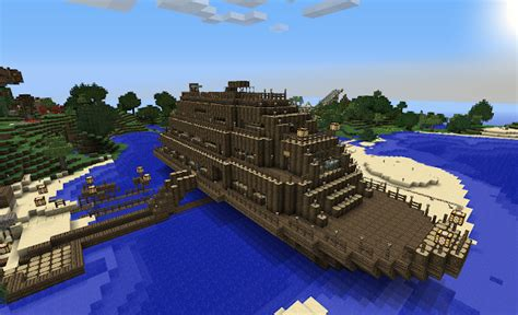 minecraft boat night the art of architecture the minecraft cruise liner