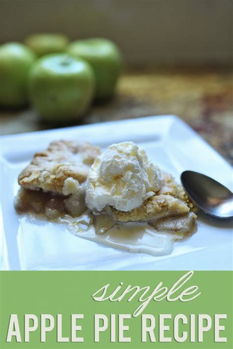 simple apple pie recipe giveaway sarah halstead