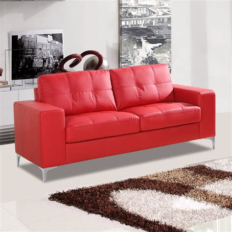 red leather sofa and chair sofa sensational red leather sofa image inspirations