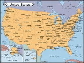 United State Map With Cities by Us Map With Capitals And Major Cities Www