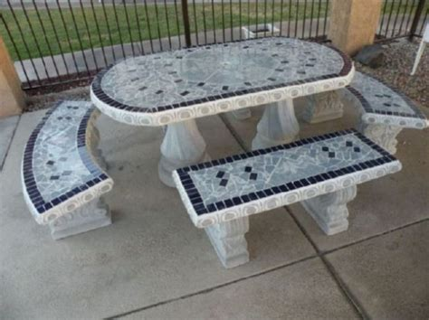 concrete patio tables and benches concrete picnic tables and benches home ideas
