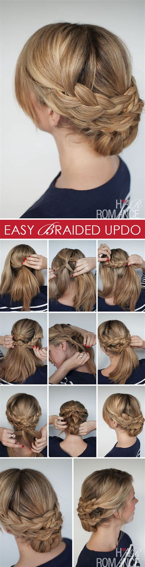 hairstyles updo how to hairstyle how to easy braided updo tutorial hair romance
