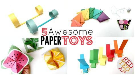 Things To Do With Craft Paper - 5 paper diys 5 minute crafts things to do when