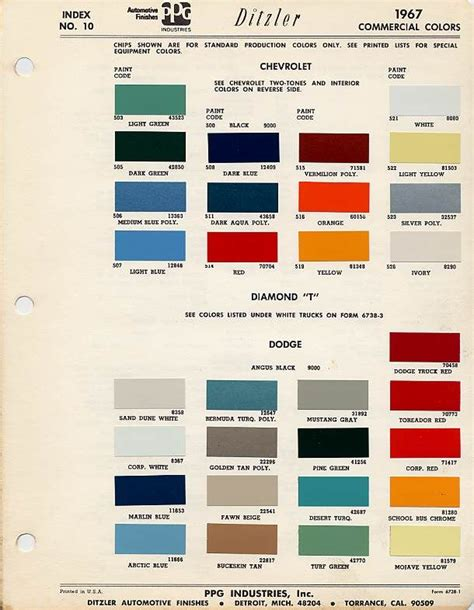 auto paint codes paint code the 1947 present chevrolet gmc auto paint colors codes