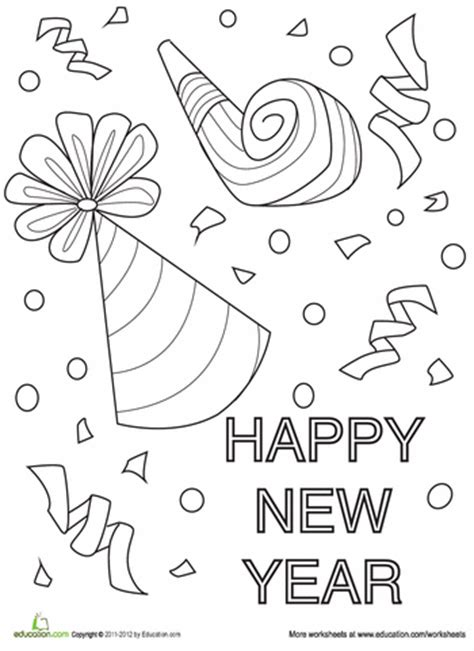 new year s coloring page