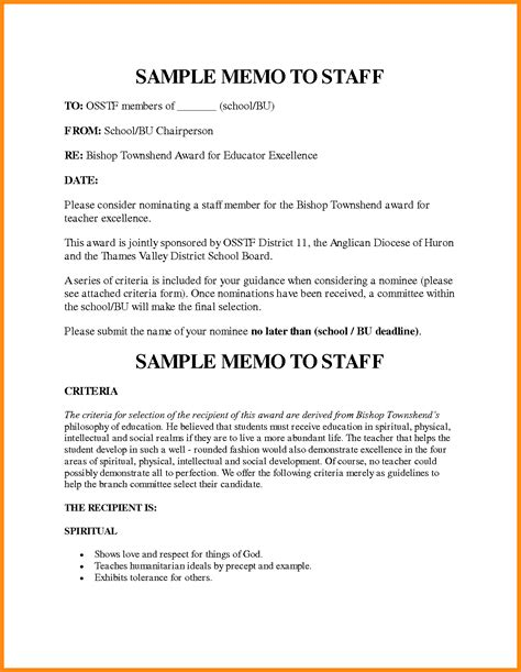 10 staff memo template reporter resume