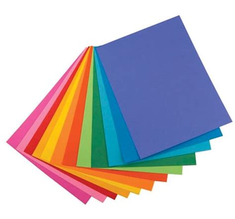 What To Make With Coloured Paper - bright color paper by hygloss materials supplies