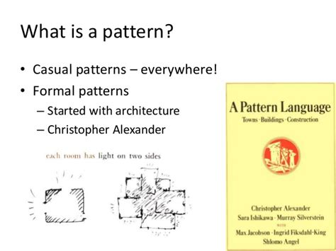 Pattern Language Christopher Alexander Ppt | patterns and pattern thinking for analysis and innovation