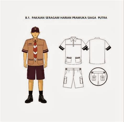 Atribut Baju Pramuka Putra pakaian seragam harian pramuka siaga putra