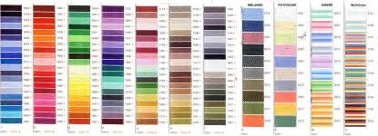 madeira thread color chart madeira rayon 40 200m punch with judy