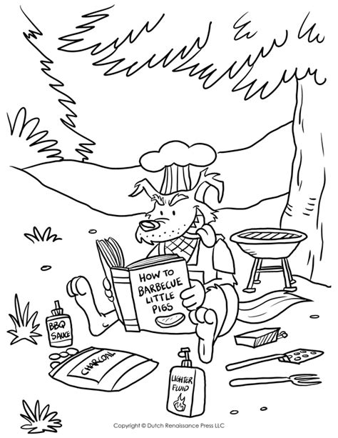 Three Little Pigs Coloring Pages The Three Little Pigs Story Big Bad Wolf Coloring Page