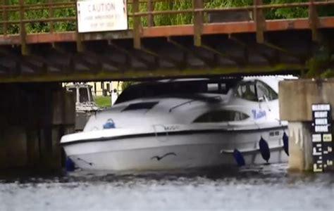 maycraft potter heigham boats for sale video cruiser gets stuck under bridge on norfolk broads ybw