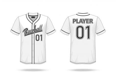 baseball  shirt mockup vector premium
