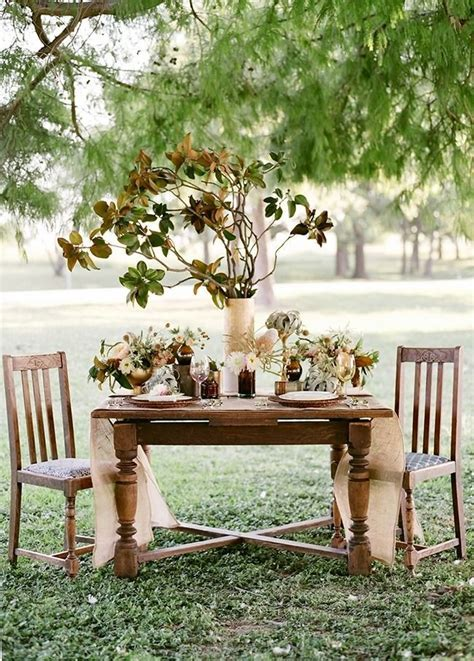 Rustic wedding centerpiece wedding decor flowers autumn