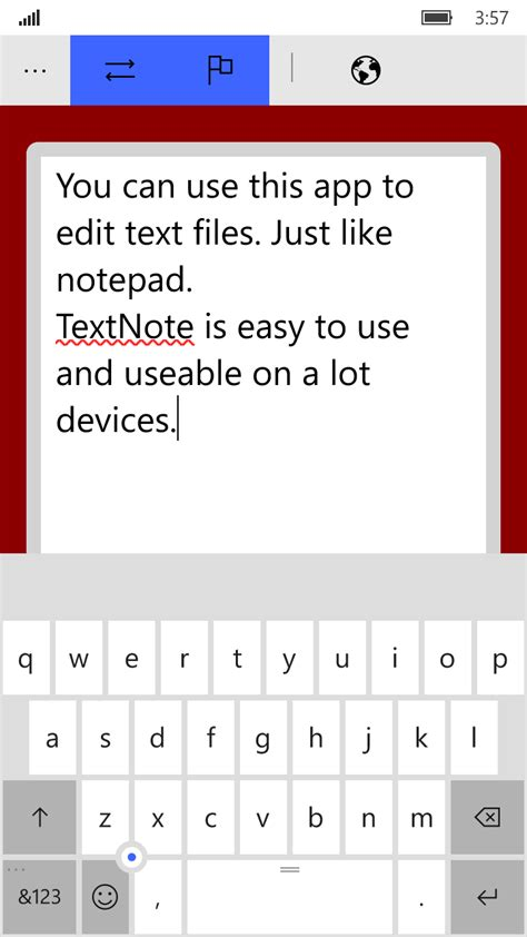 wordpad for android wordpad textnote free windows phone app market