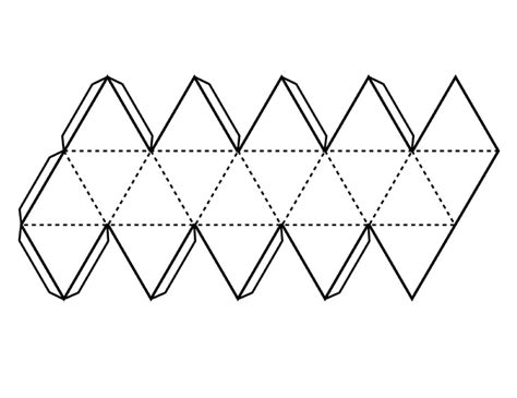 How To Make A Stencil Out Of Paper - pattern for icosahedron clipart etc