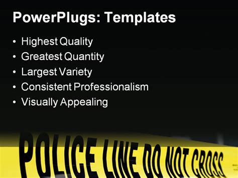 murder powerpoint template powerpoint template do not cross line for