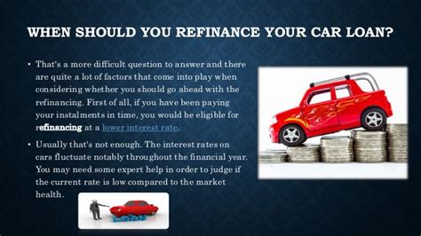 car loan refinance  whats   time