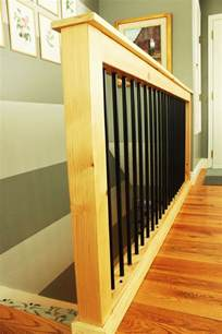 Banister Rails Diy Stair Handrail With Industrial Pipes And Wood