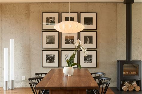 wall picture frame collage ideas dining room midcentury
