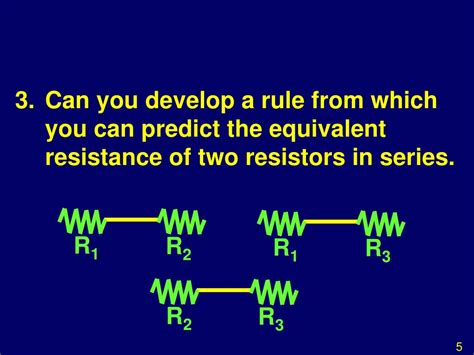 two resistors connected in series an equivalent resistance of 690 ppt investigation ohms resistances in series and parallel powerpoint presentation id 502754