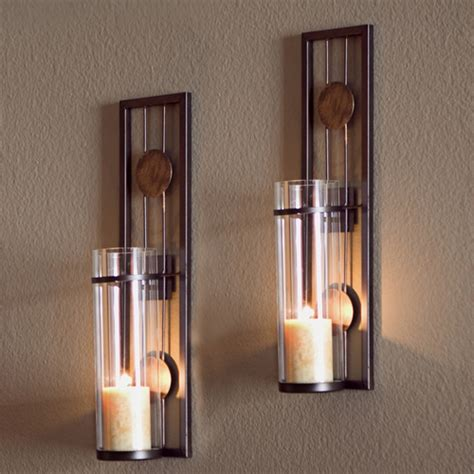 modern candle wall sconces buy danya b set of two contemporary metal wall sconces