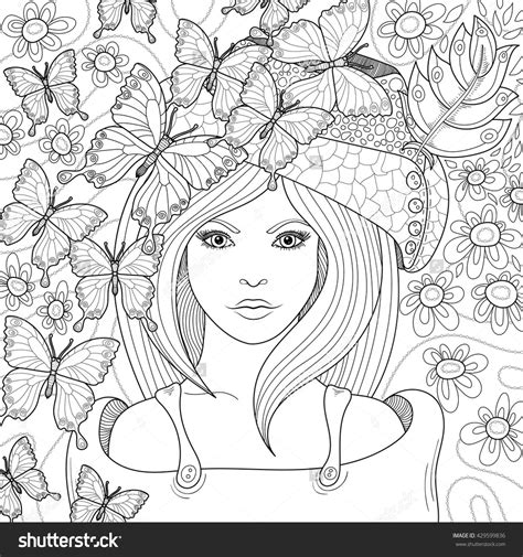 anti stress coloring book vector pattern anti stress coloring book page