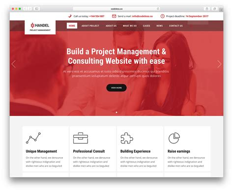 20 Best Business Consulting Wordpress Themes 2018 Colorlib Task Management Website Template