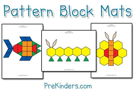 shape using pattern blocks pattern block mats prekinders