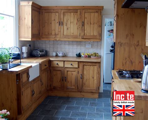 british rustic pine kitchen with tongue and groove