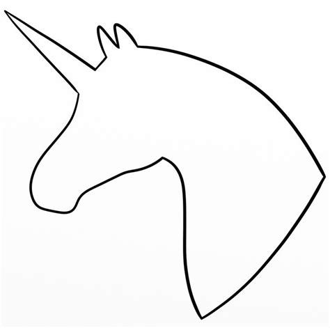 unicorn coloring pages simple simple outline pictures simple outline unicorn profile