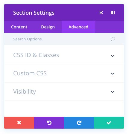 elegant themes css id an overview of divi sections elegant themes documentation