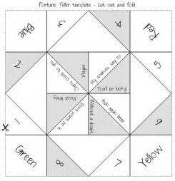 Template For Fortune Teller Card by How To Make A Cootie Catcher Fortune Teller Fortune