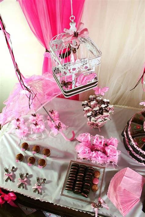 Brown And Pink Butterfly Baby Shower Decorations by Pink And Brown Butterfly Baby Shower Ideas Photo 1