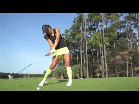 perfect golf swing slow motion michelle wie s swing in slow motion golf com yourepeat