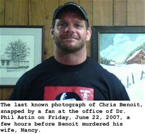 Chris Benoit Dead In Murder by Chris Benoit 3 Weeks Before Committing Murder