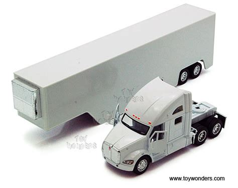 Kinsmart Kenworth Container 168 kinsmart kenworth t700 container truck 1 68 scale diecast model car white 1302ww