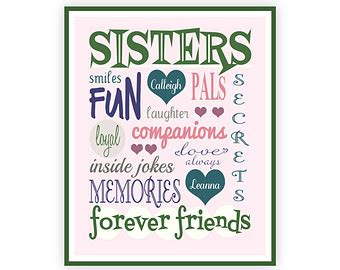 printable twin quotes sisters print instant download personalized sister gift